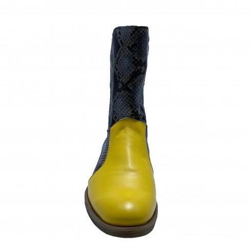 Botine CRINA negru galben