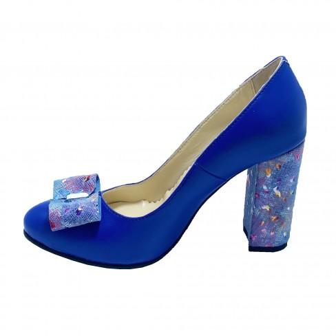 Pantofi BIGA albastru electric