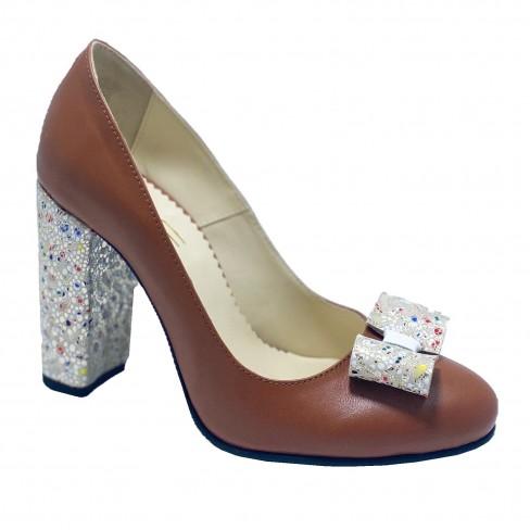 Pantofi BIGA coniac