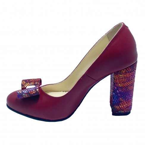 Pantofi BIGA rosu inchis