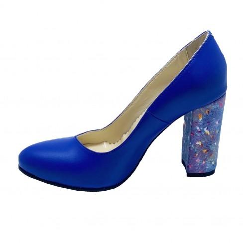 Pantofi CUNA albastru electric