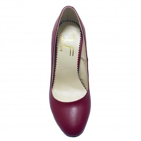 Pantofi CUNA rosu inchis