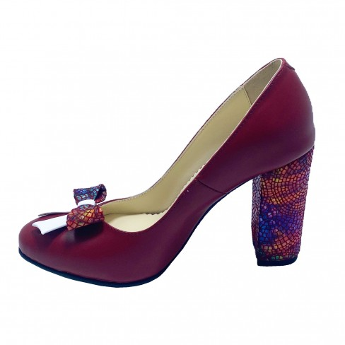 Pantofi FIGA rosu inchis