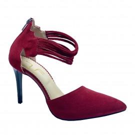 Pantofi HELENA rosu inchis