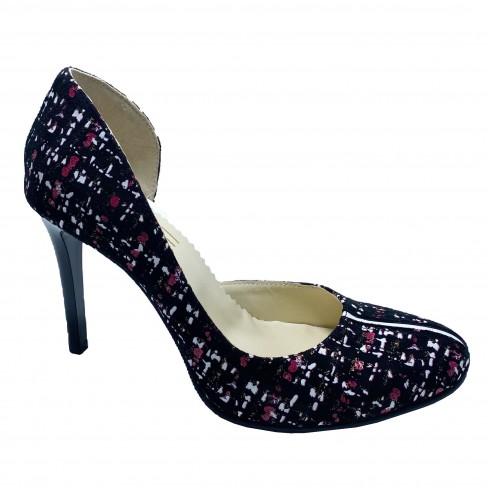 Pantofi PRESTO negru print palton