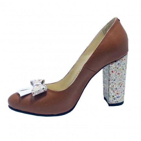 Pantofi FIGA coniac