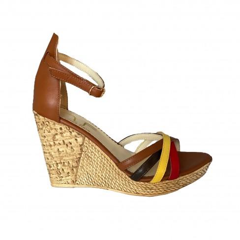 Sandale AMANDA coniac