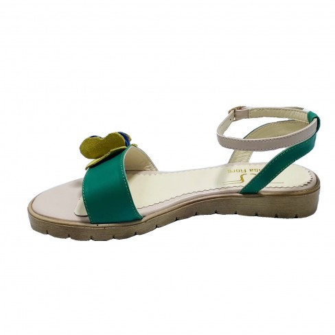 Sandale FIORELA verde bej