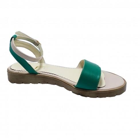 Sandale LUPITA verde bej