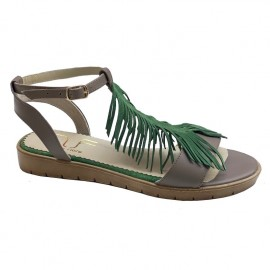 Sandale LESA gri/verde
