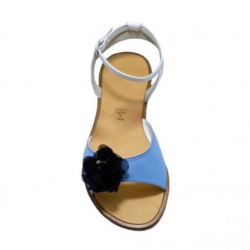 Sandale CARINA alb/albastru