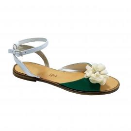 Sandale CARINA alb/verde