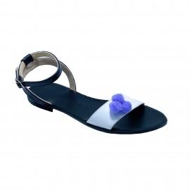 Sandale CLARA negru/alb