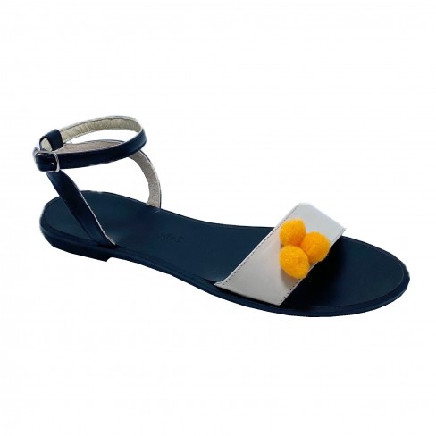 Sandale CLARA negru/bej