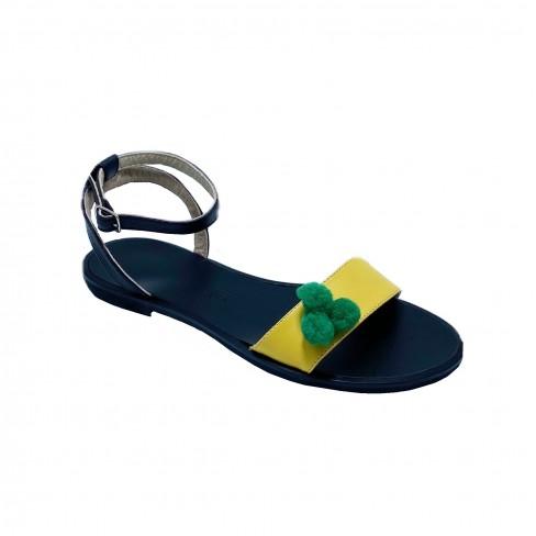 Sandale CLARA negru/galben