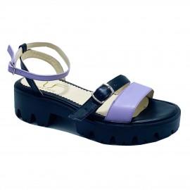 Sandale NINA negru lila