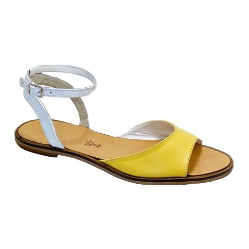 Sandale DANYY alb galben