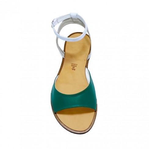 Sandale DANNY alb verde