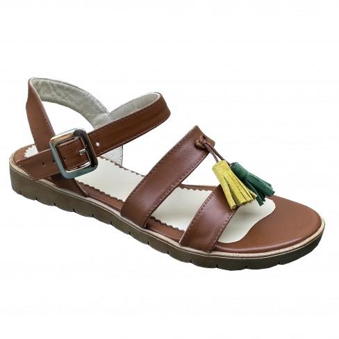 Sandale DORA coniac
