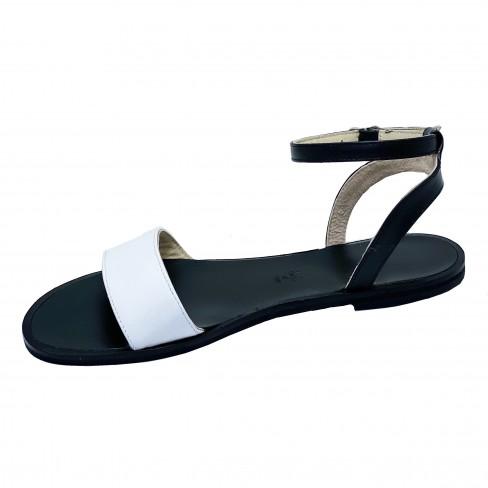 Sandale EMMY negru alb