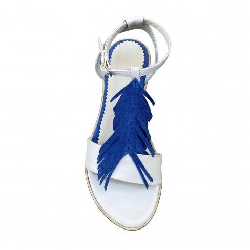 Sandale LESA bej/albastru