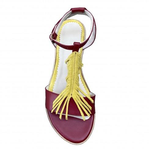 Sandale LESA rosu/galben