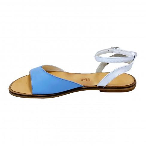 Sandale DANNY alb acvamarin