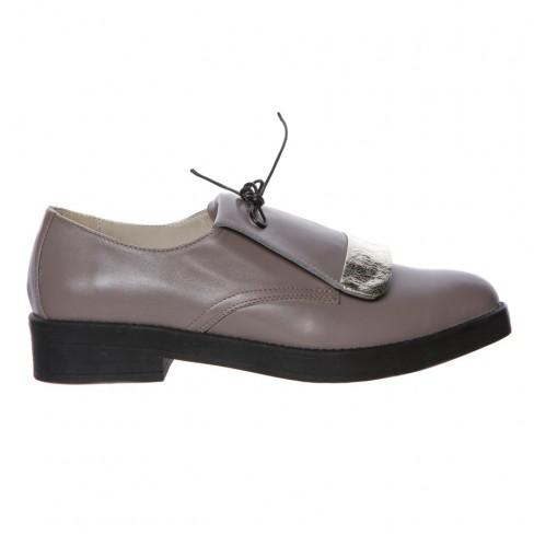 Pantofi FRAGOLA gri auriu