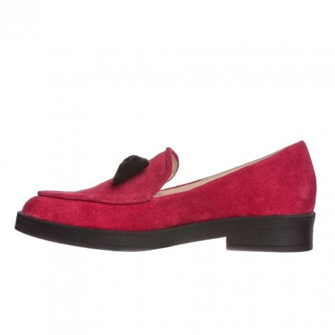 Pantofi CRAITELE rosu funda neagra