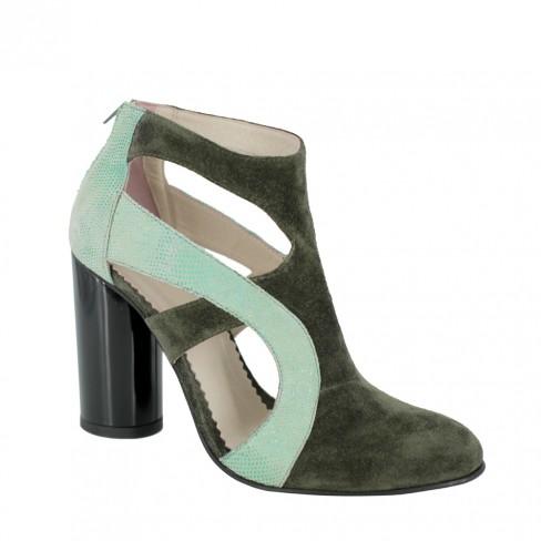 Pantofi CAMOMILLA verde englez
