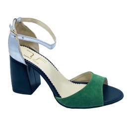 Sandale PINA verde argintiu