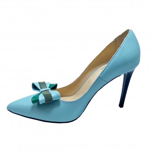 Pantofi DEVI verde de apa