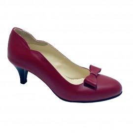 Pantofi EVE rosu inchis