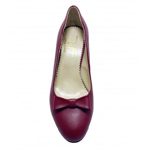 Pantofi EVE rosu bordeaux