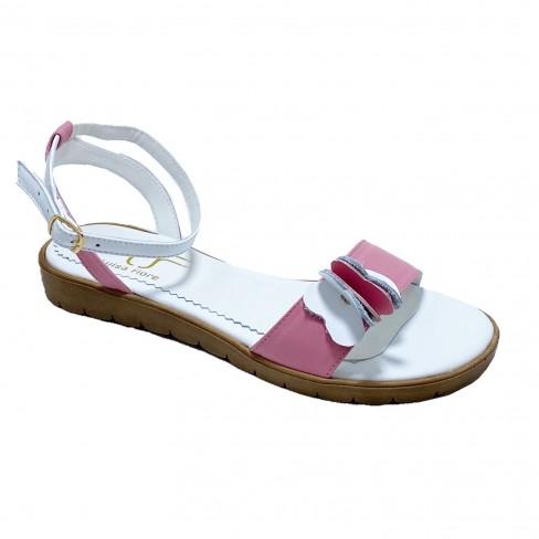 Sandale FIORELA alb roz