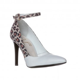 Pantofi SALVIA animal print/alb