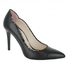 Pantofi AGAVE negru, print negru