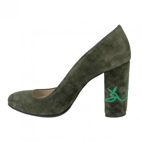 Pantofi NARCISI verde englez