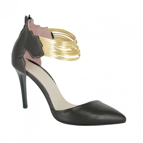 Pantofi HELENA maro trabuc
