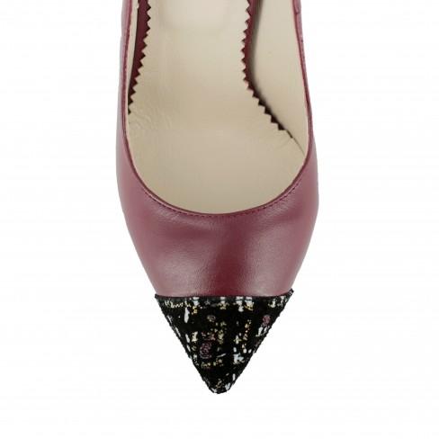 Pantofi FLAGARIA rosu bordeaux