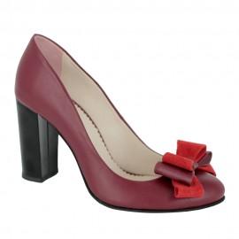 Pantofi CALCE bordeaux