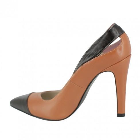 Pantofi FRESIA coniac