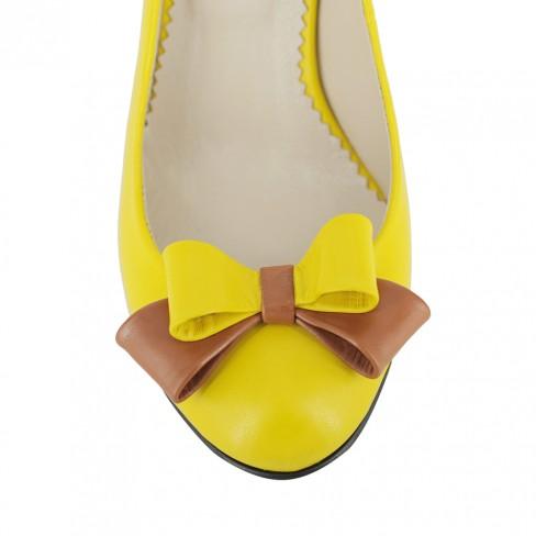 Pantofi FIORE DELLA REGIONE galben