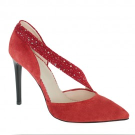 Pantofi NERI rosu