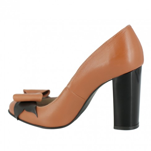 Pantofi ROSA coniac