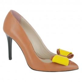 Pantofi BEGONIA coniac