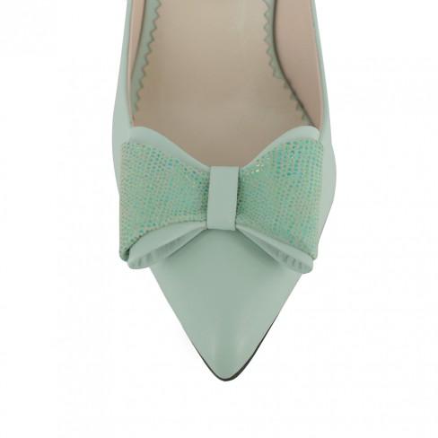 Pantofi BEGONIA verde de apa