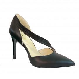 Pantofi NERI negru bizonat