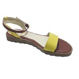 Sandale LUPITA galben coniac