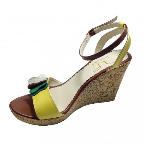 Sandale MONA galben coniac